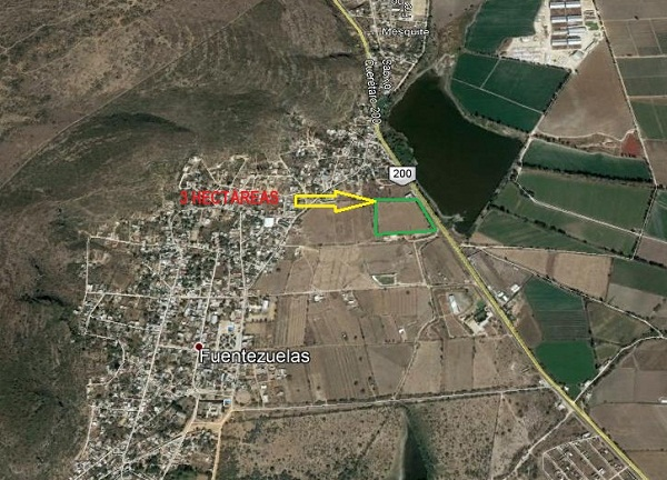 Terreno comercial en Venta en Ejido Fuentezuelas en Tequisquiapan, Qro.
