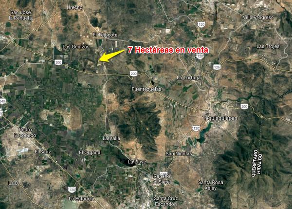 Venta de Hectáreas en Tequisquiapan, Querétaro en Col. LA LAJA Y URECHO Tx-2311 (1)