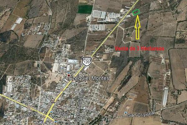 Héctareas en Venta en Ezequiel Montes, Querétaro.