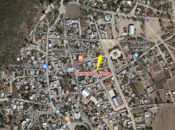 Terreno en Venta en Tequisquiapan, Querétaro en Col. La TrinidadTx-2260