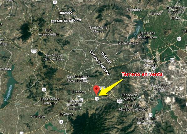 Venta de terreno en San Pablo Huantepec, Jilotepec Estado de México Tx-2312